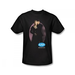 Melrose Place - Kiss Slim Fit Adult T-Shirt In Black