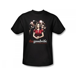 The Good Wife - Bad Press Slim Fit Adult T-Shirt In Black