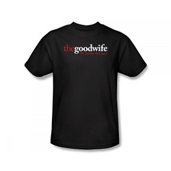 The Good Wife - The Good Wife Logo Slim Fit Adult T-Shirt In Black