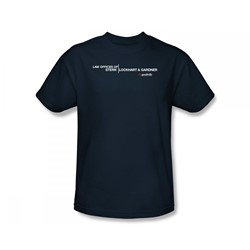 The Good Wife - Law Offices Slim Fit Adult T-Shirt In Navy