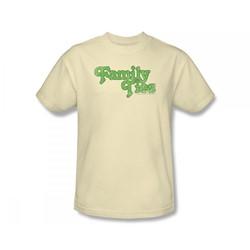 Family Ties - Family Ties Logo Slim Fit Adult T-Shirt In Cream