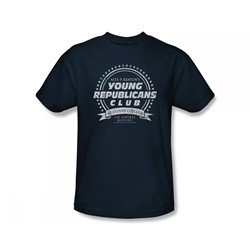 Family Ties - Young Republicans Club Slim Fit Adult T-Shirt In Navy
