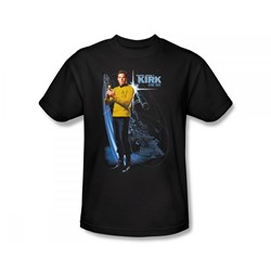 Star Trek: The Original Series - Galactic Kirk Slim Fit Adult T-Shirt In Black
