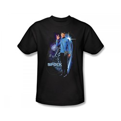 Star Trek: The Original Series - Galactic Spock Slim Fit Adult T-Shirt In Black