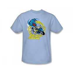 Batgirl - Batgirl Motorcycle Slim Fit Adult T-Shirt In Light Blue