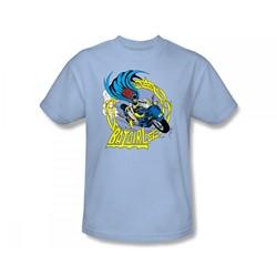 Batgirl - Batgirl Motorcycle Slim Fit Adult T-Shirt In Light Blue