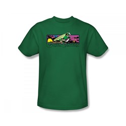 Green Lantern Cosmos Adult S/S T-shirt in Kelly Green by DC Comics