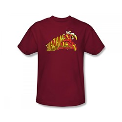 Shazam Shazam! Adult S/S T-shirt in Cardinal by DC Comics