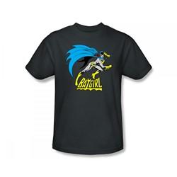Batgirl - Batgirl Is Hot Slim Fit Adult T-Shirt In Charcoal
