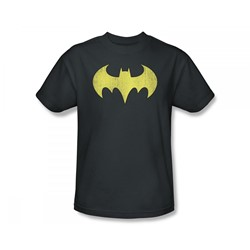 Batgirl - Batgirl Logo Distressed Slim Fit Adult T-Shirt In Charcoal