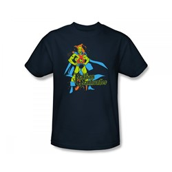 Martian Manhunter - Martian Manhunter Slim Fit Adult T-Shirt In Navy