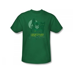 Catwoman - Perrfect! Slim Fit Adult T-Shirt In Kelly Green