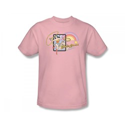 Wonder Woman Island Princess Adult S/S T-shirt in Pink by DC Comics