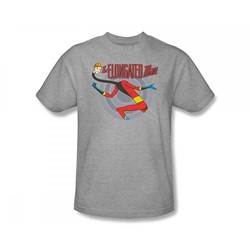 Elongated Man Adult S/S T-shirt in Athletic Heather by DC Comics