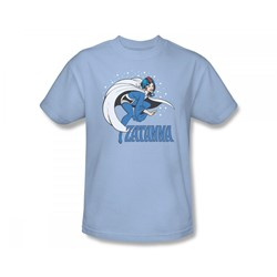 Zatanna Adult S/S T-shirt in Light Blue by DC Comics