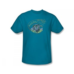Catwoman - Meow Catwoman Slim Fit Adult T-Shirt In Turquoise