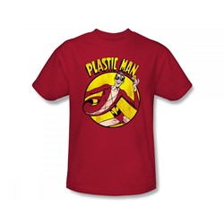 Plastic Man - Plastic Man Slim Fit Adult T-Shirt In Red