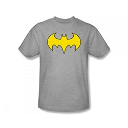 Batgirl - Batgirl Logo Slim Fit Adult T-Shirt In Silver