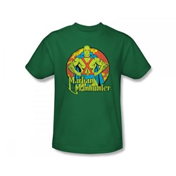 Martian Manhunter - Martian Manhunter Circle Slim Fit Adult T-Shirt In Kelly Green
