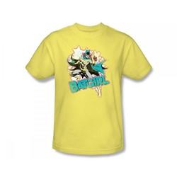 Batgirl - I'M Batgirl Slim Fit Adult T-Shirt In Banana Sheer