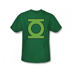 Green Lantern - Lantern Symbol Slim Fit Adult T-Shirt In Kelly Green