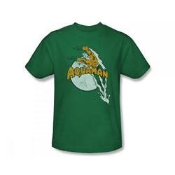 Aquaman - Splash Slim Fit Adult T-Shirt In Kelly Green