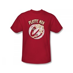 Plastic Man - Bounce Slim Fit Adult T-Shirt In Red