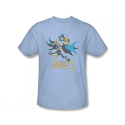 Batgirl - See Ya Slim Fit Adult T-Shirt In Light Blue