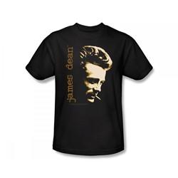 James Dean - Smoke Slim Fit Adult T-Shirt In Black
