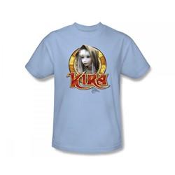 The Dark Crystal - Kira Circle Slim Fit Adult T-Shirt In Light Blue