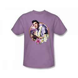 Elvis - Luau King Adult T-Shirt In Lilac