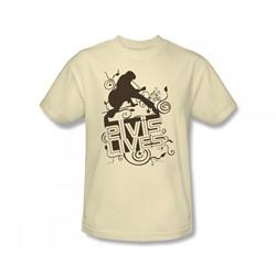 Elvis - Elvis Lives Adult T-Shirt In Cream