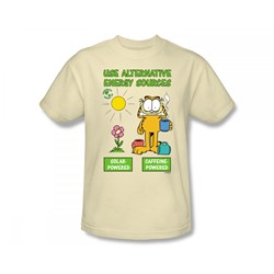 Garfield - Alternative Energy Adult T-Shirt In Cream