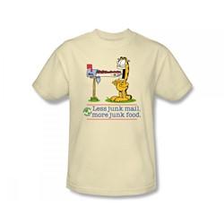 Garfield - Less Junk Mail Adult T-Shirt In Cream