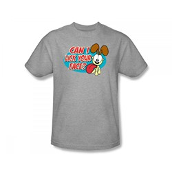 Garfield - Question Slim Fit Adult T-Shirt In Heather