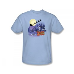 Grandma Got Run Over By A Reindeer - Face In The Snow Adult T-Shirt In Light Blue