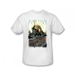 Aquaman - Brightest Day Aquaman Slim Fit Adult T-Shirt In White