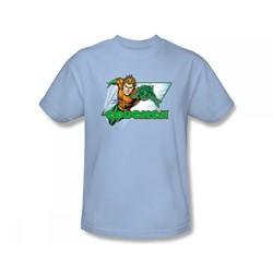 Aquaman - Aquaman Slim Fit Adult T-Shirt In Light Blue