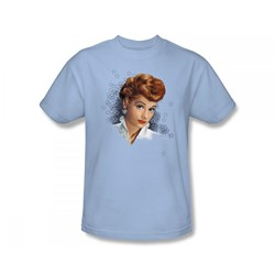 I Love Lucy - What A Star Slim Fit Adult T-Shirt In Light Blue