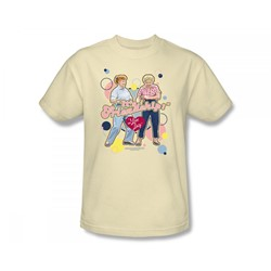 I Love Lucy - Its Friendship Adult T-Shirt In Cream