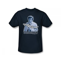 Columbo - Just One More Thing Slim Fit Adult T-Shirt In Navy