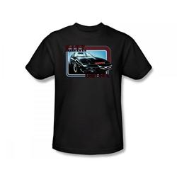 Knight Rider - K.I.T.T. Slim Fit Adult T-Shirt In Black