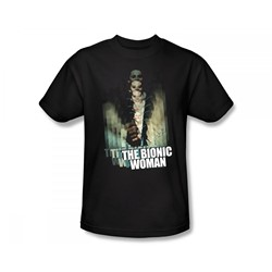 The Bionic Woman - Motion Blur Slim Fit Adult T-Shirt In Black