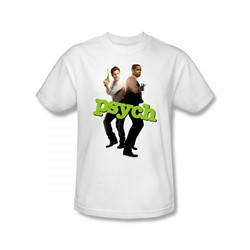 Psych - Hands Up Slim Fit Adult T-Shirt In White