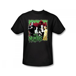 The Munsters - Normal Family Slim Fit Adult T-Shirt In Black