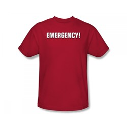 Emergency - Emergency Logo Slim Fit Adult T-Shirt In Red