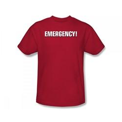 Emergency - Emergency Logo Slim Fit Adult T-Shirt In Red