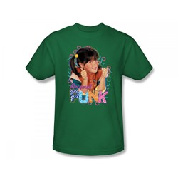 Punky Brewster - Original Punk Slim Fit Adult T-Shirt In Kelly Green