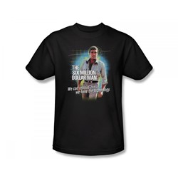 The Six Million Dollar Man - Technology Slim Fit Adult T-Shirt In Black