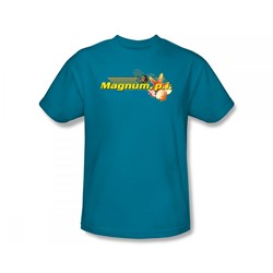 Magnum P.I. - Hawaiian Life Slim Fit Adult T-Shirt In Turquoise